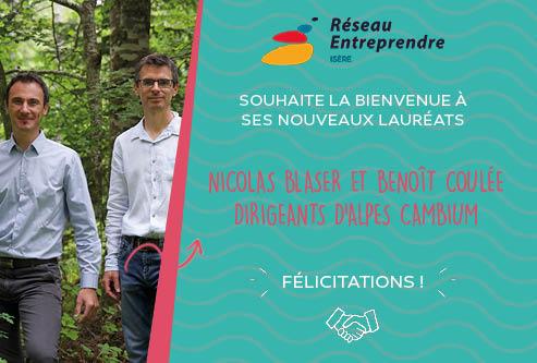 Nicolas Blaser et Benoît Coulée, lauréats 2020