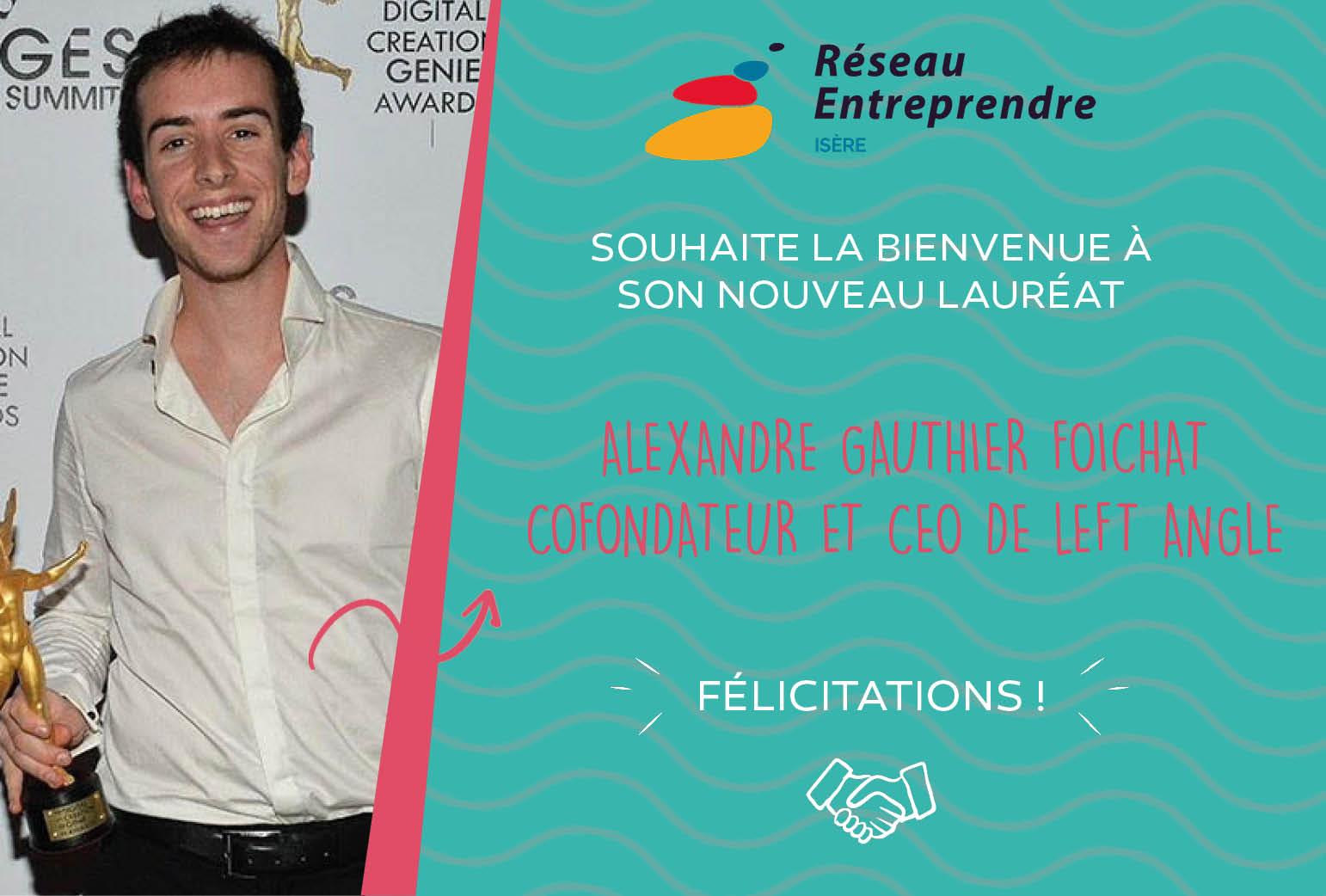 Alexandre Gauthier-Foichat, lauréat 2020