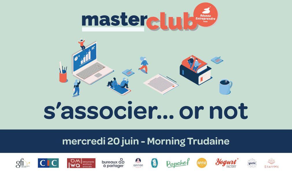 Invitation MasterClub S'associer or not - 20 juin