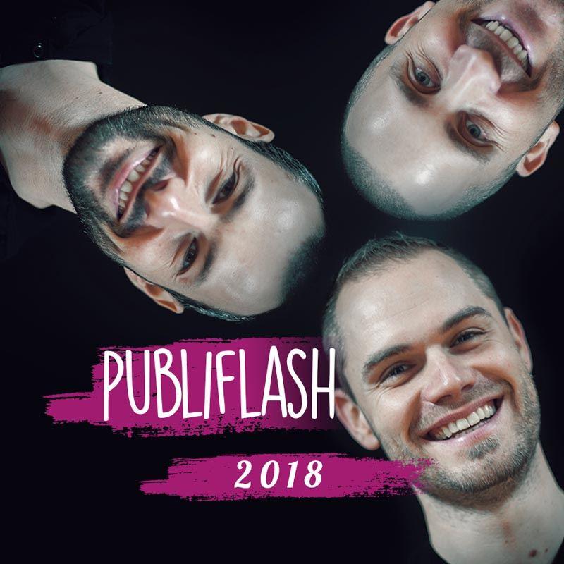 Guillaume, Nicolas et Adrien reprennent PUBLIFLASH
