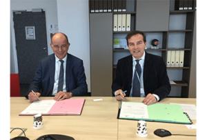 Alain Roumilhac, Président de la Fondation ManpowerGroup et Olivier de La Chevasnerie, Président de Réseau Entreprendre