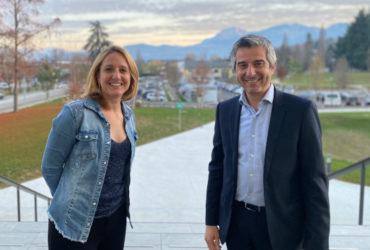 Léo Herz, Directeur Commercial Crédit Agricole des Savoie et Perrine Bois, Directrice Réseau Entreprendre Savoie
